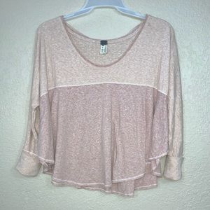 We the Free | Free People Pink Oversized Top